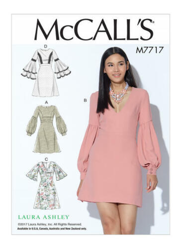 Details About M7717 Sewing Pattern Mccall S Laura Ashley Misses