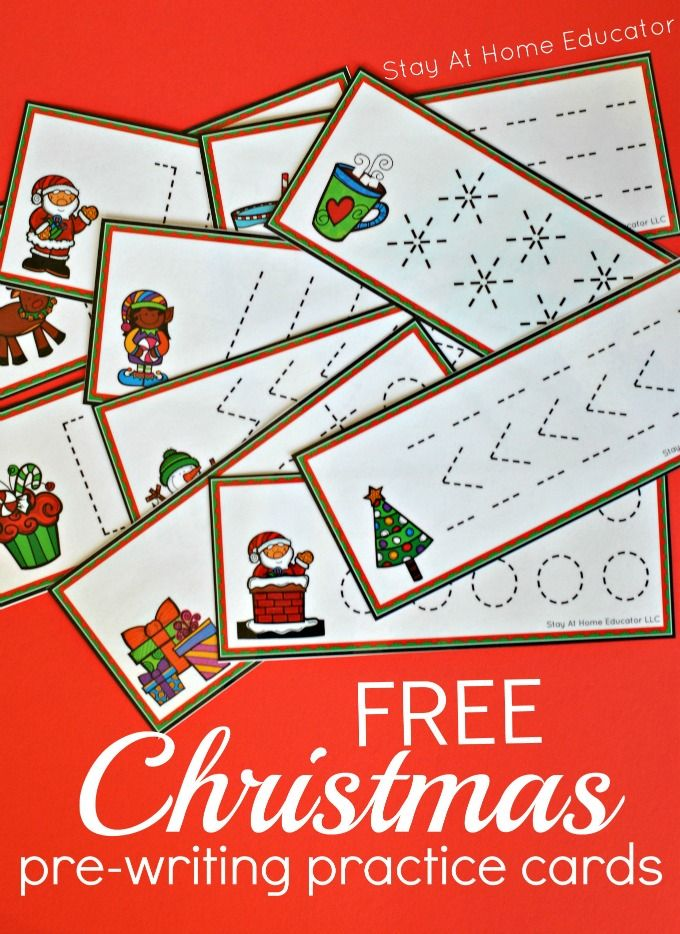 Free Prewriting Practice - Christmas Themed | Work Boxes for ECSE ...