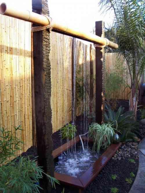 Décoration de jardin moderne avec bassin aquatique | Sichtschutz