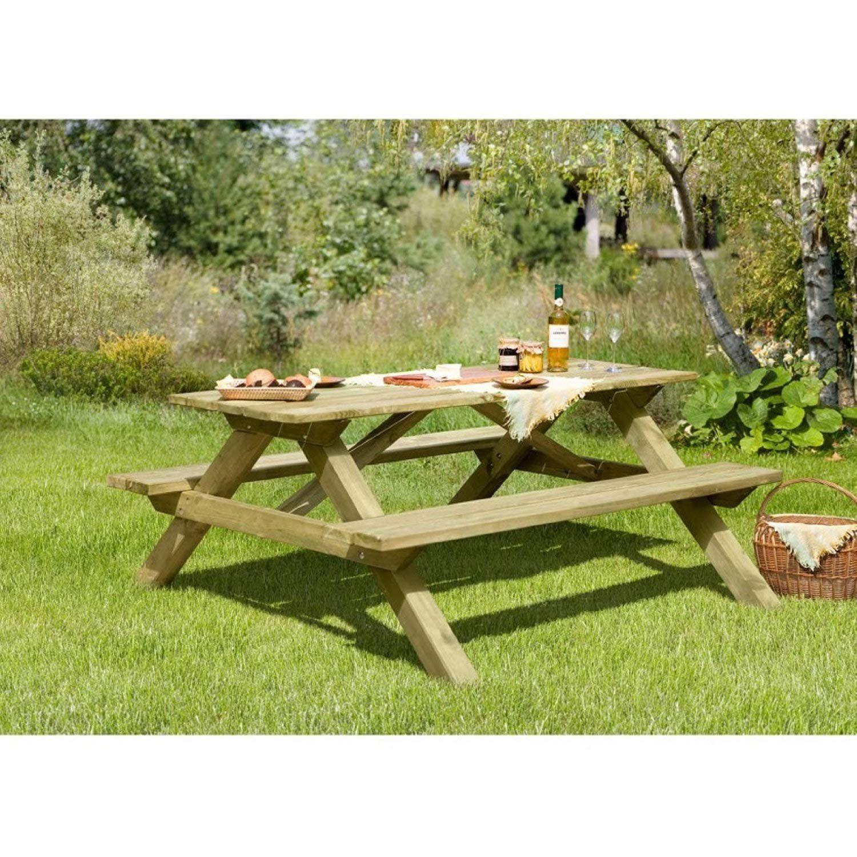 Gartenbank Mit Tisch Holz Tegernsee Gartenpirat Picknicktisch
