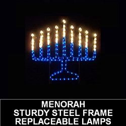 Menorah Lighted Outdoor Lawn Decoration My Jewish Roots