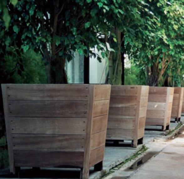 Charming Provencal Look Diy Wood Planters Large Wooden Planters Raised Wooden Planters