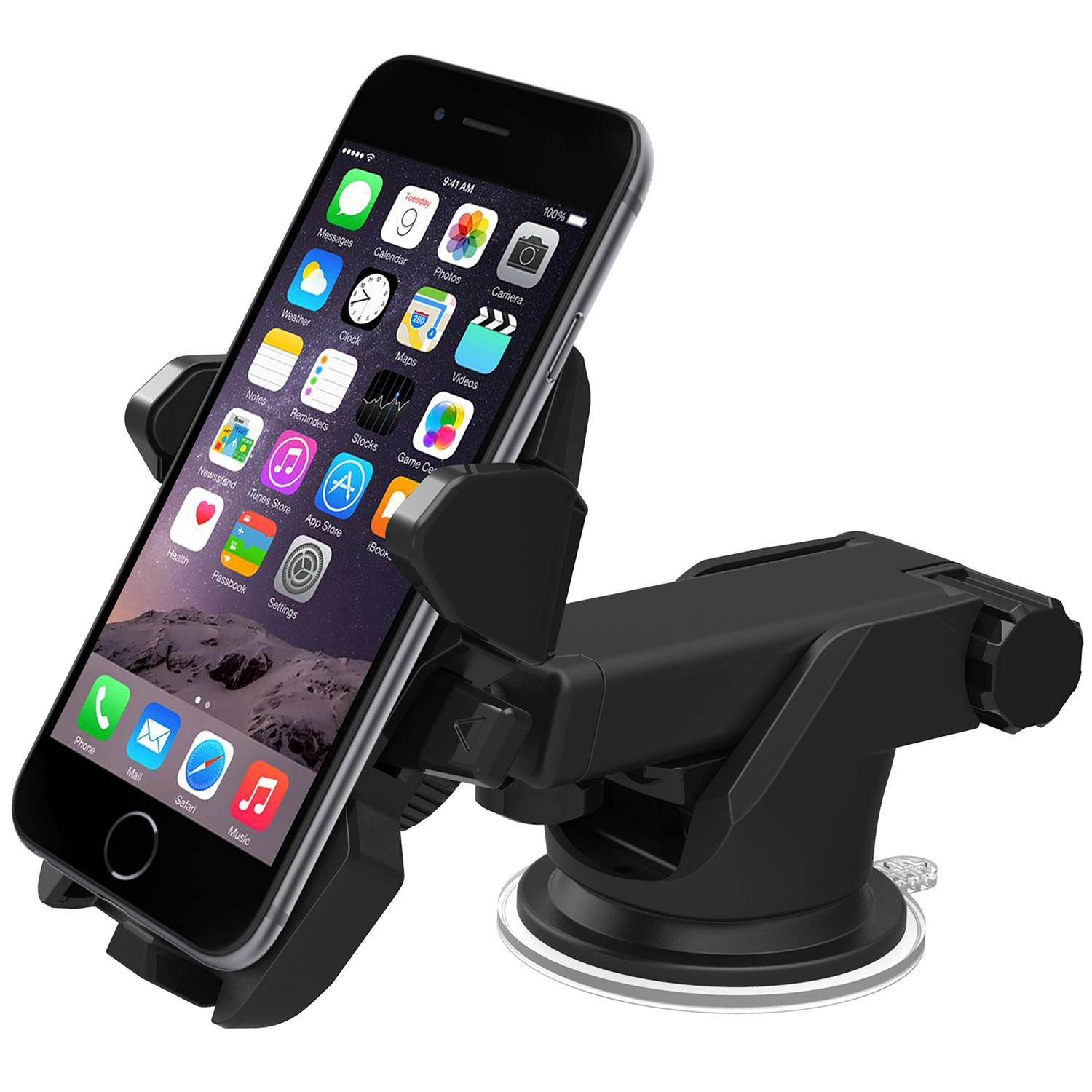 Universal Car Mirror Rearview GPS Phone Mount Car Cellphone Holders for iPhone 7//7 Plus Galaxy S8//S8 Plus