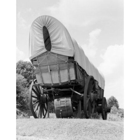 Old wagon on meadow Canvas Art - (24 x 36)