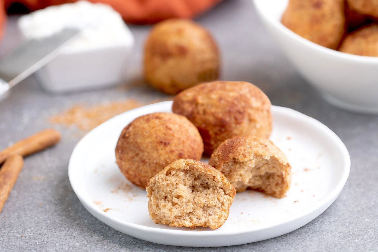 AirFryer Sweet Cinnamon Bagel Bites Recipe Bagel