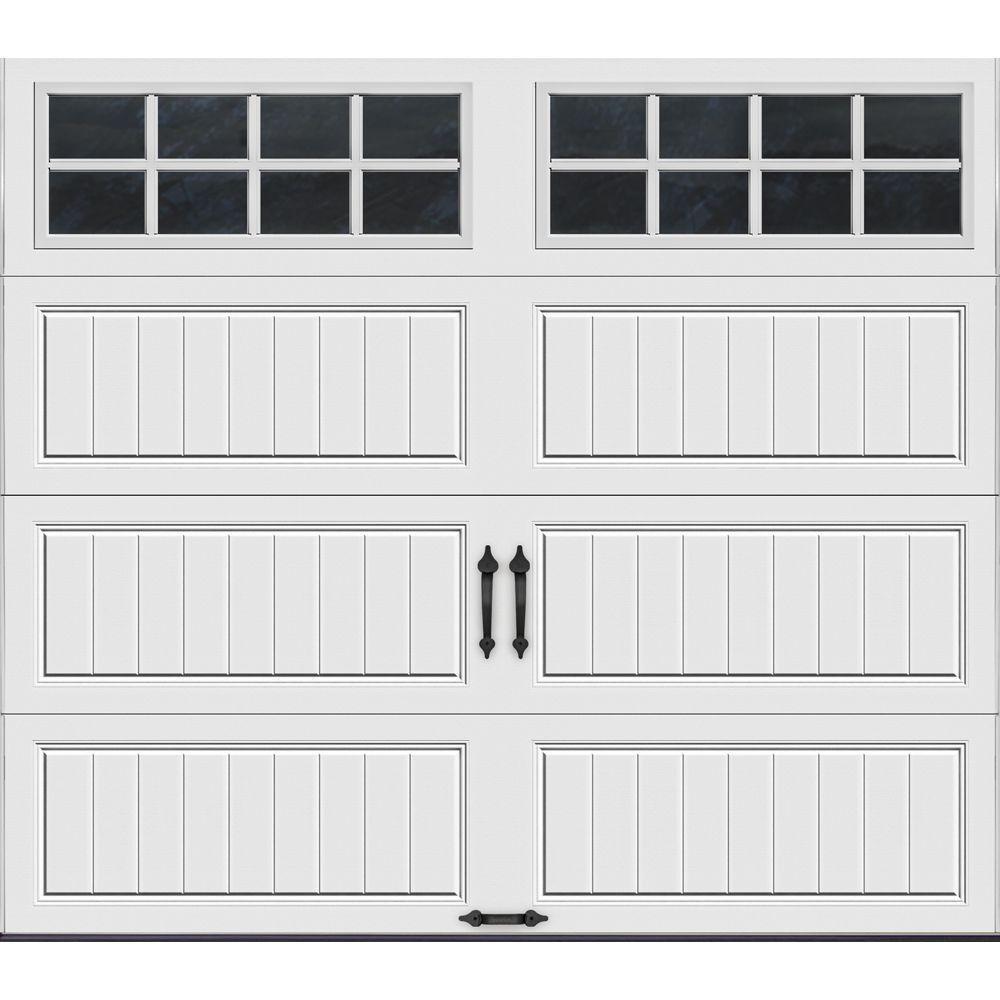 Clopay Gallery Collection 8 Ft X 7 Ft 6 5 R Value Insulated White Garage Door With Sq24 Window Gr1lp Sw Sq24 The Home Depot In 2020 White Garage Doors Garage Doors Garage Door Styles