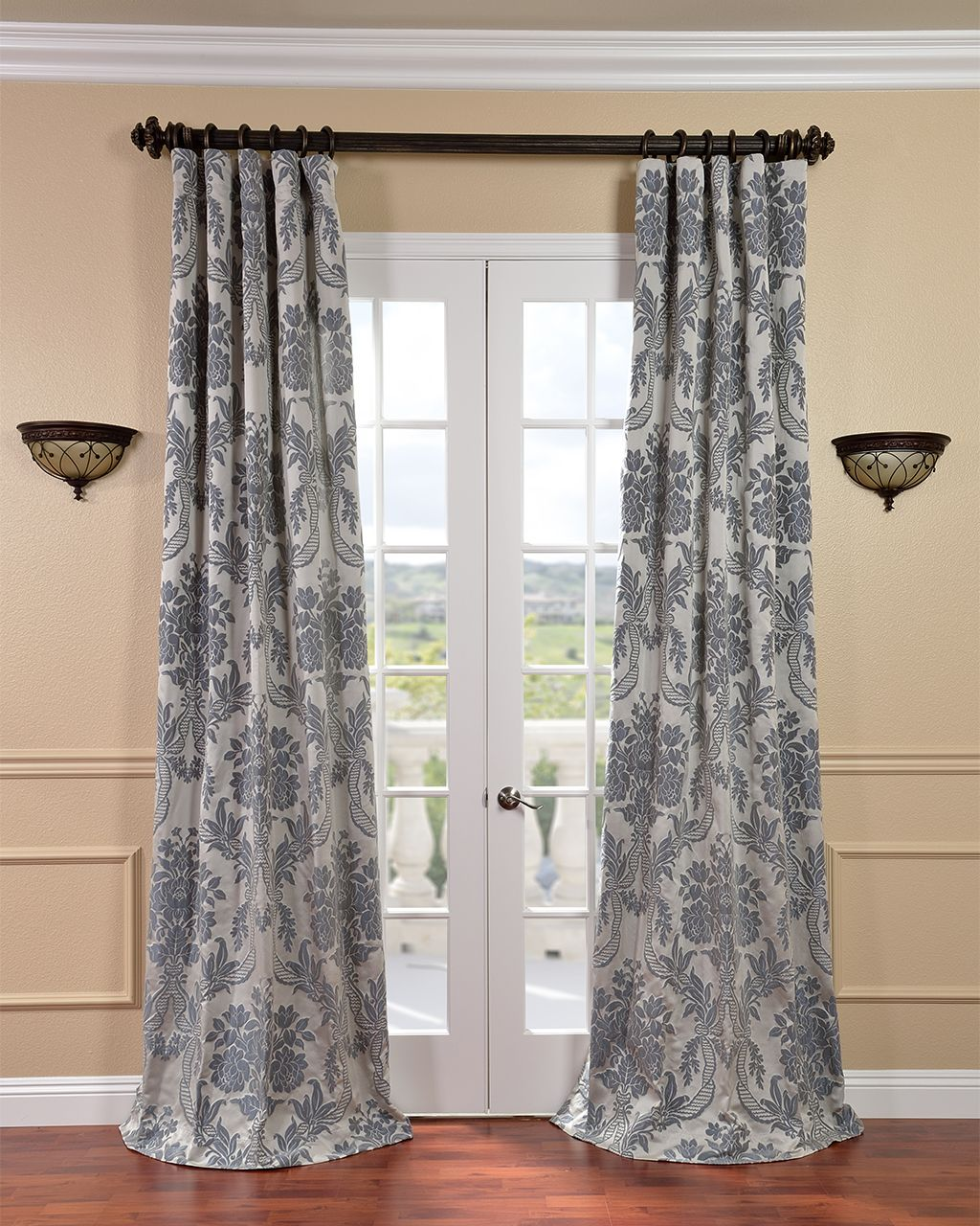 These Striking Silver Faux Silk Curtains Will Bring A Touch Of Luxury Into Your Home