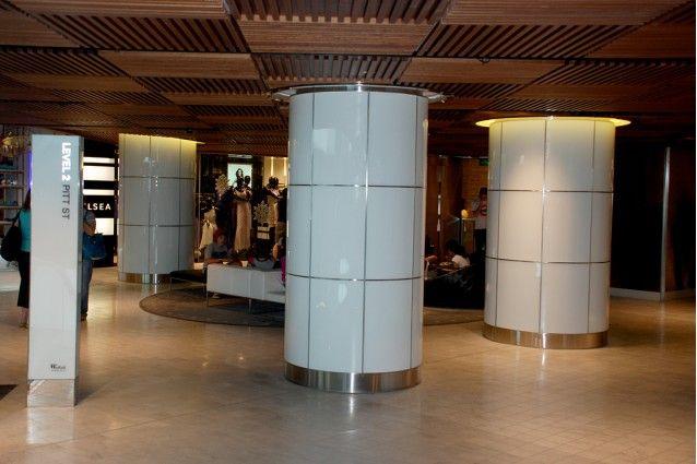 Aluminum Column Cladding : Metal column cladding google search exhibition hall