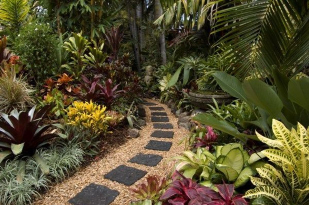 48 Best Side Yard Landscaping Ideas   Small tropical ...