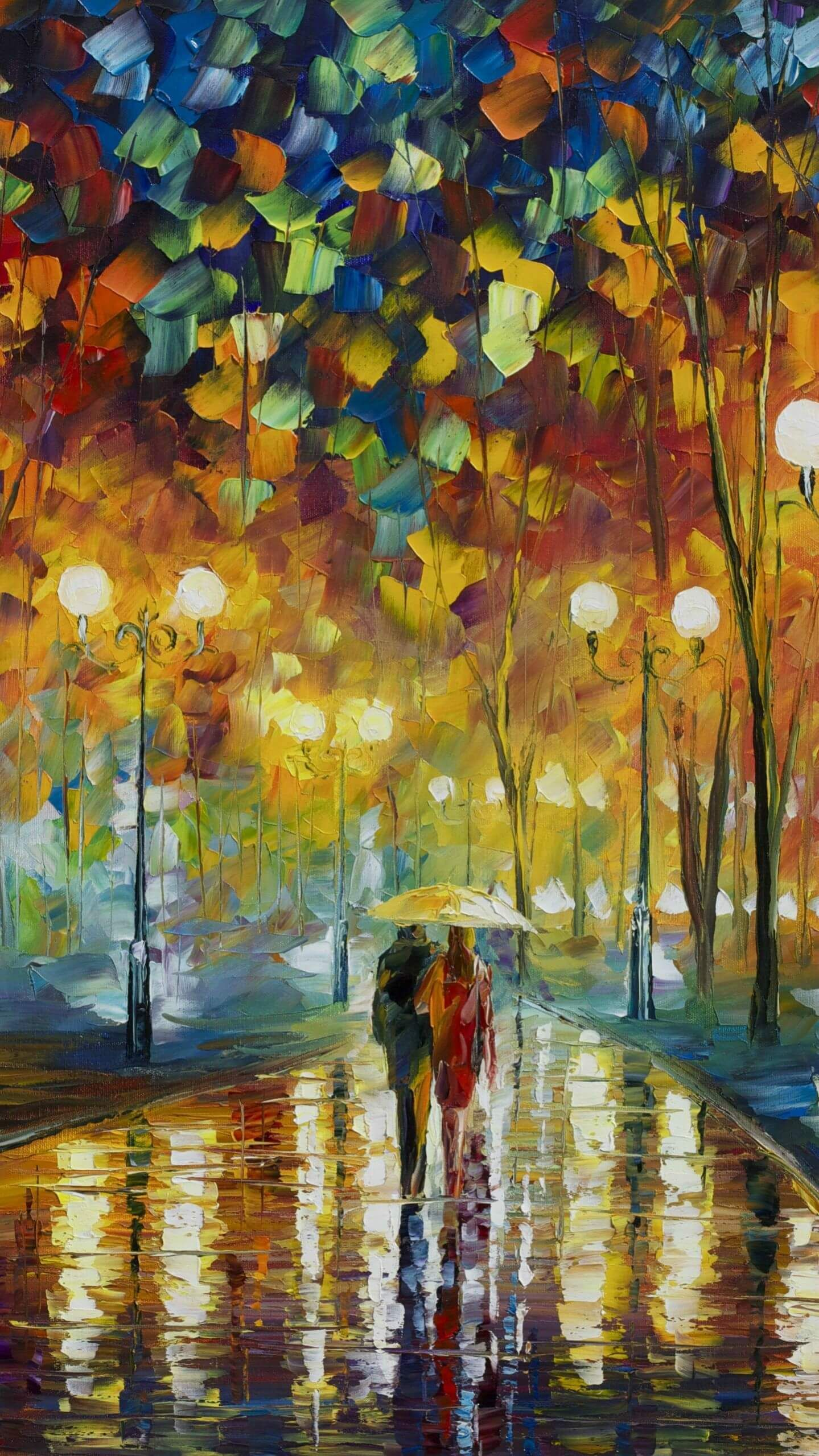 Cute Couple Oil Painting Iphone Wallpaper Painting Wallpaper