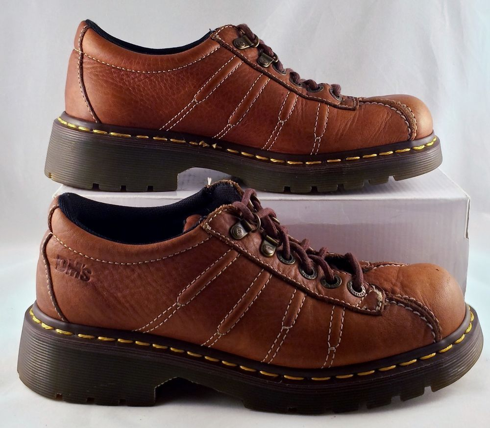 18f239a54214 Dr Martens Shoes Brown Leather England 6 Eye Lace Up Oxfords Mens 7 Womens  8 EUC  Drmartens  oxford