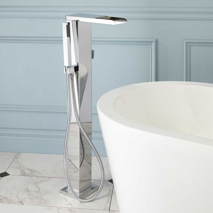 Freestanding Thermostatic Waterfall Tub Faucet | Faucet, Tubs and ...