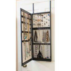 Space Saving OvertheDoorWall Hanging Jewelry Armoire by