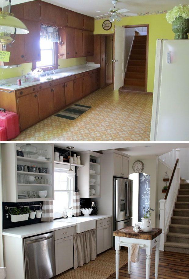 Before & After-The Kitchen | home | Pinterest | Diy küche, Küche und ...