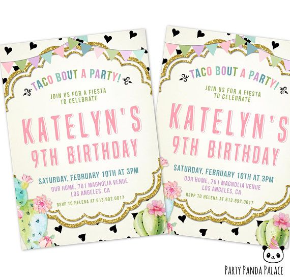 taco bout a party invitation fiesta birthday invitation taco