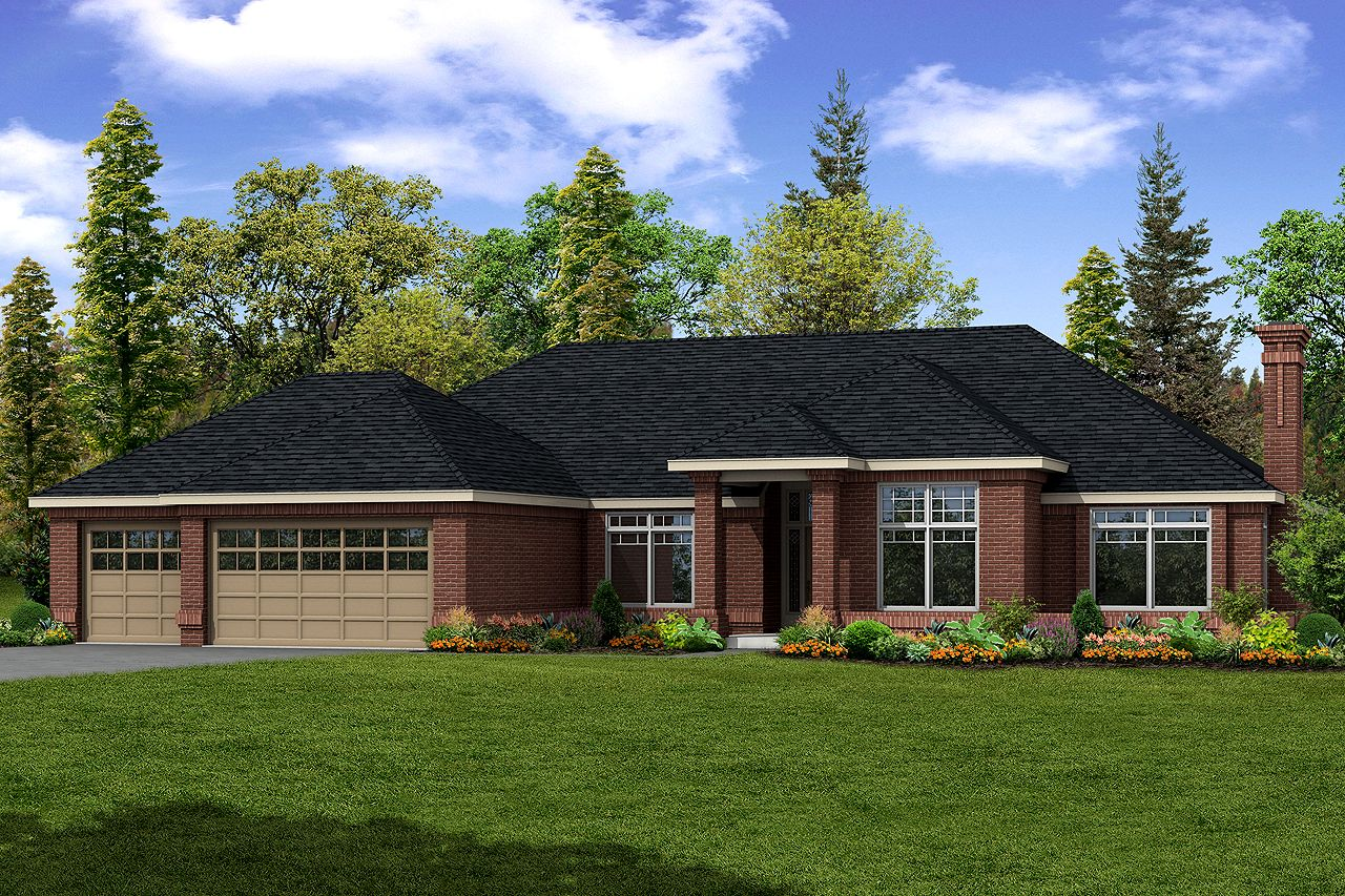 Contemporary House Plan - Westbrook 30-065 - by Associated Designs