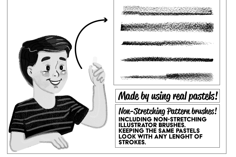 Pastels Illustrator Brush Kit Hdadobeworksclass Design Add On