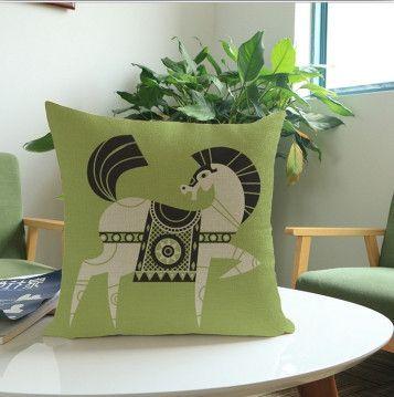 Horse Art Pillows 18in