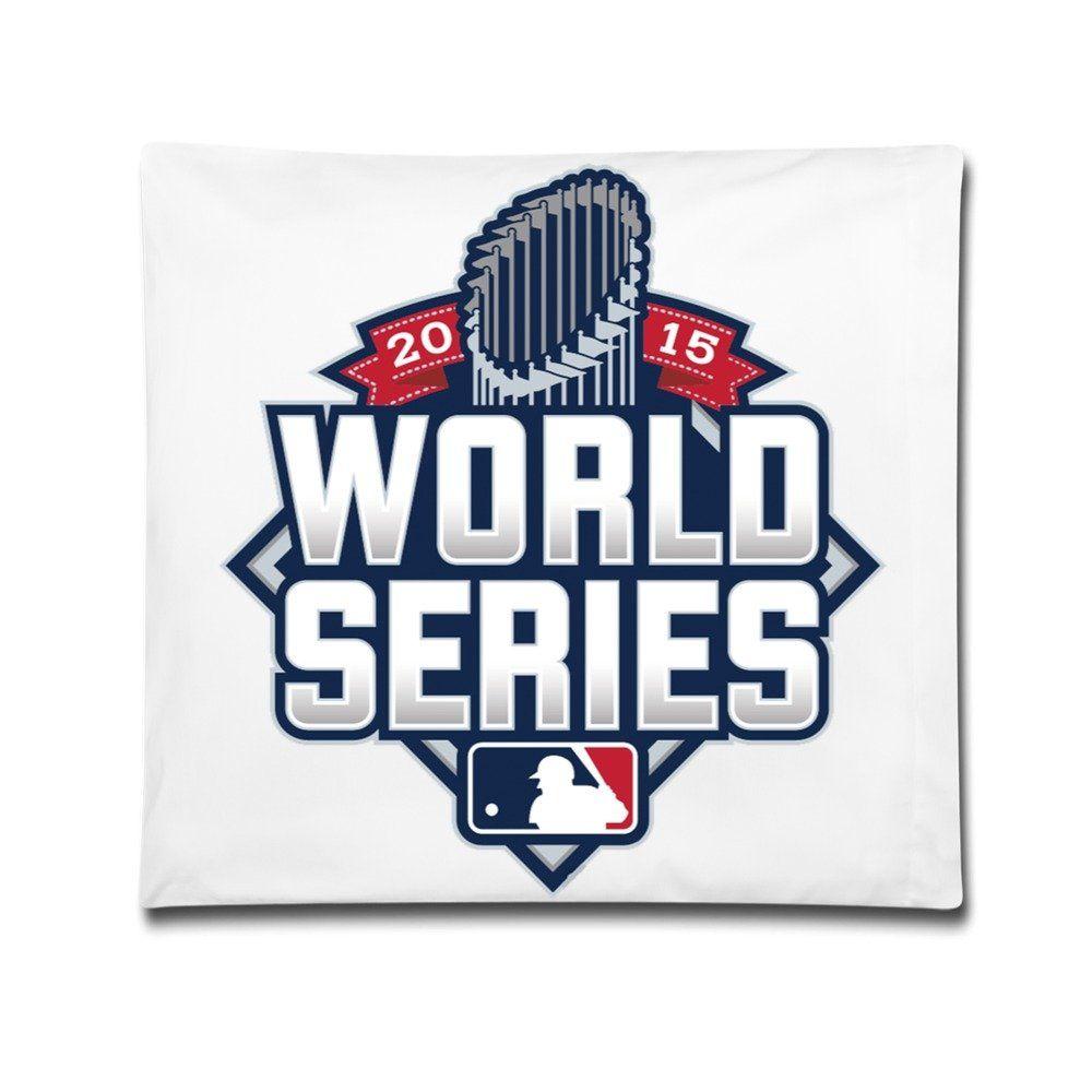 Amazon Com Tasy Mlb Postseason 2015 World Series Logo Pillow Case Cushion White World Series Kansas City Royals Mlb Postseason