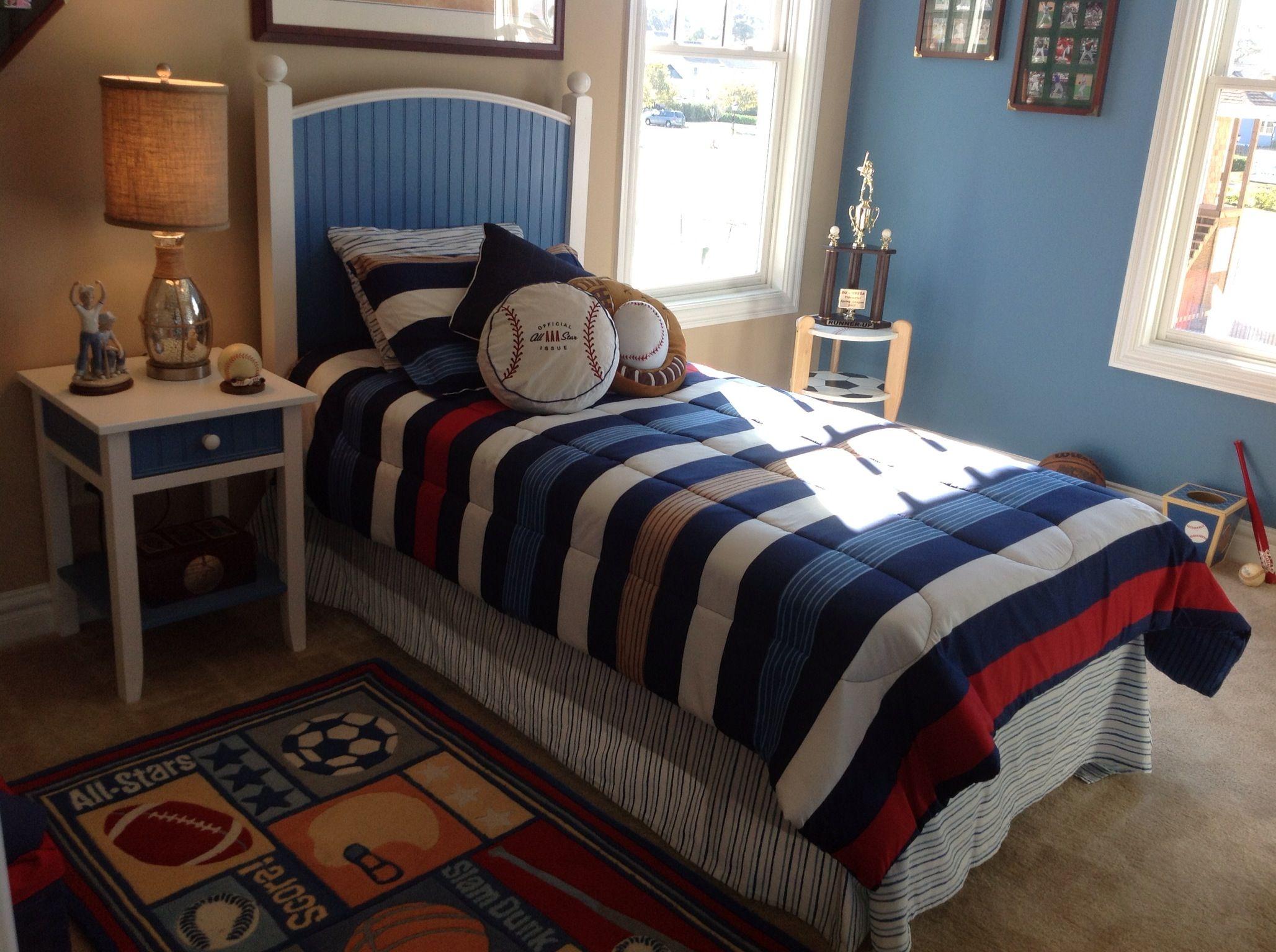 Baseball Theme Bedroom; Furnishings By Heritage Amish Furniture And Great  Bridge Furniture