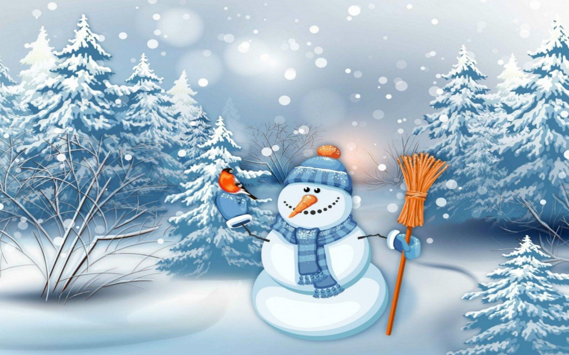Christmas Snowman Craft Wallpaper Winter Snowman Wallpaper