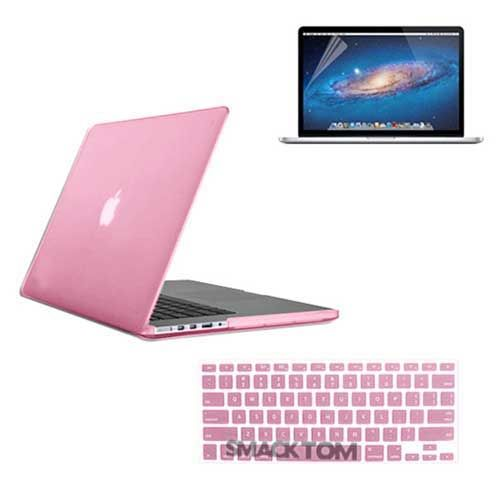 on sale 85658 0248a 3in 1 Baby Pink Case Keyboard Cover Screen Film Macbook PRO 15 ...