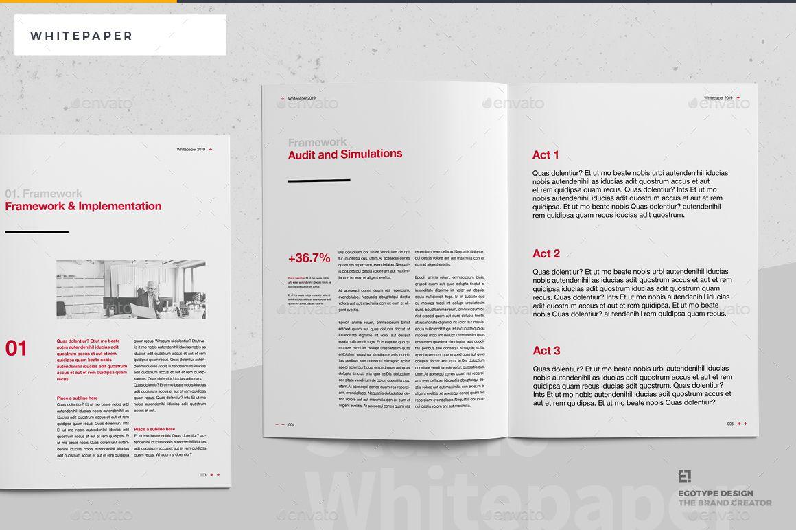 White Paper White Paper Paper Brochure Template