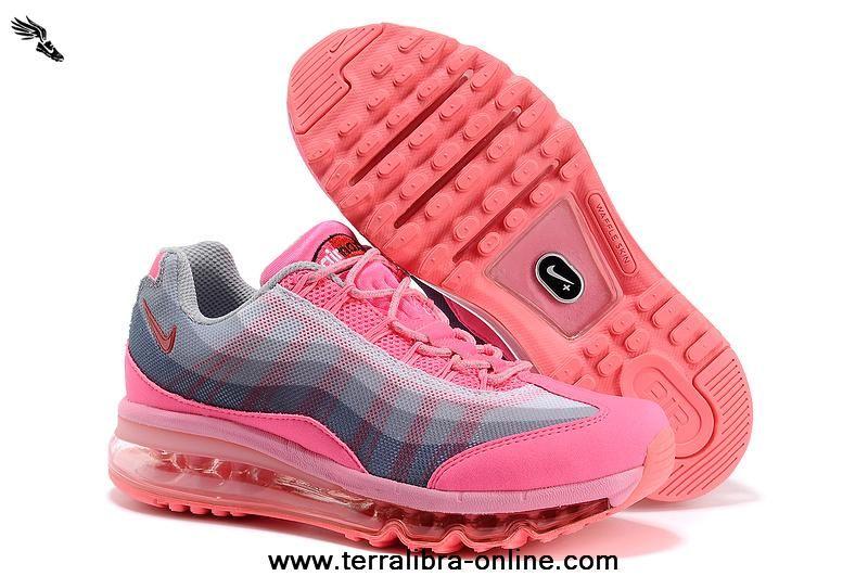 Feminino Nike Air Max 95 DYN FW sapatos Rosa Total Rosa sapatos Grey novoest Air Max 64781c