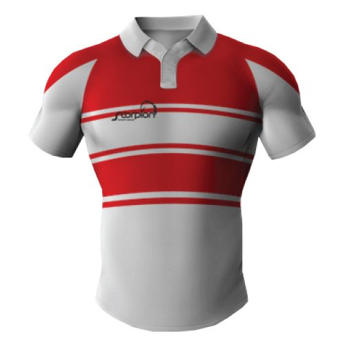 4cb26316 Rugby Shirts produced in your own design from Rugby kit designers Scorpion  Sports in the UK