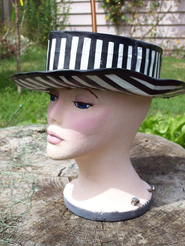 Black/White Duct Tape Top Hat