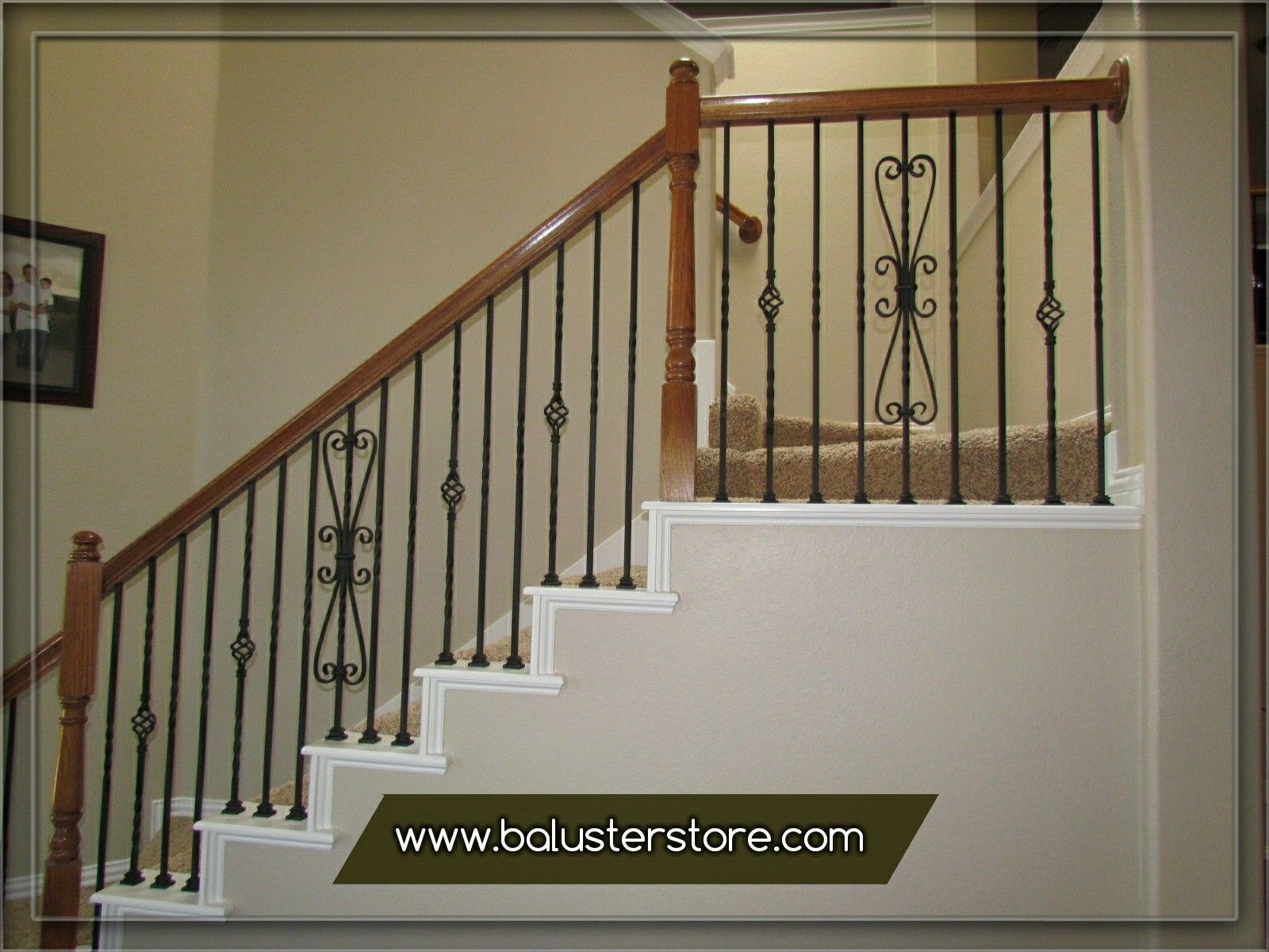 Iron Stair Balusters Parts Iron Handrails Interior Stair Iron Balusters  Wrought Iron Stair Railings Kits Wrought Iron Stair Railings Interior Rod  Iron Stair ...