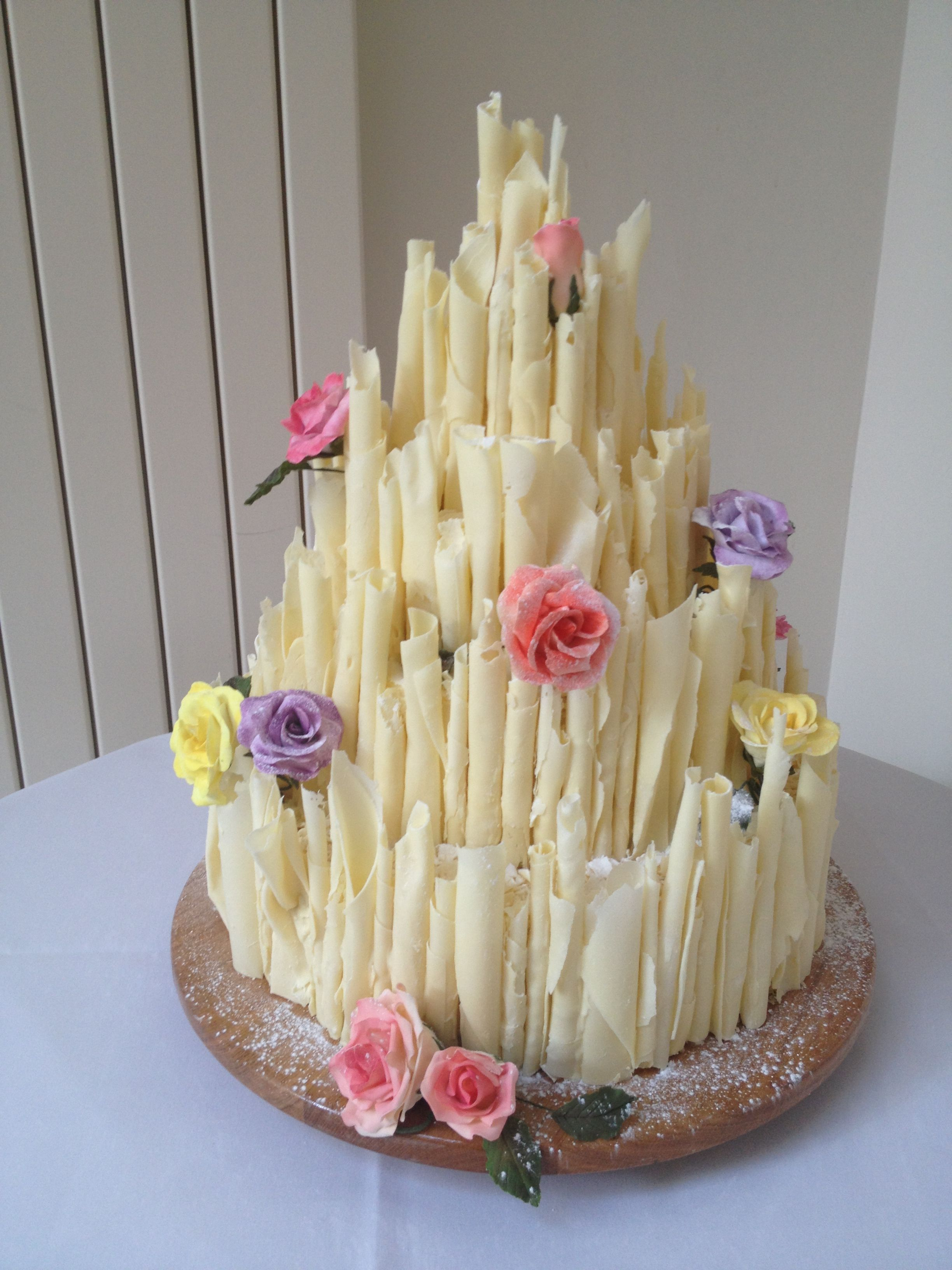 White Chocolate Cigarello Wedding Cake