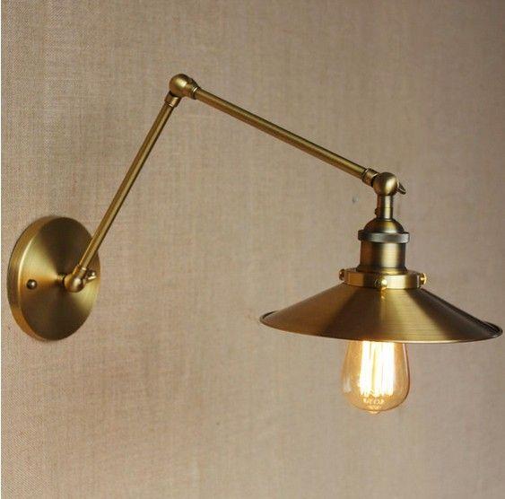 Retro Loft Edison Wall Sconce Long Arm Vintage Wall Light Fixtures ...