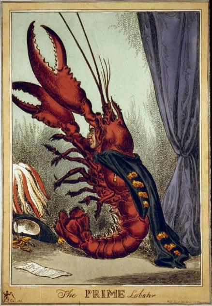 the prime lobster political cartoon 1828 mermaids seahorse