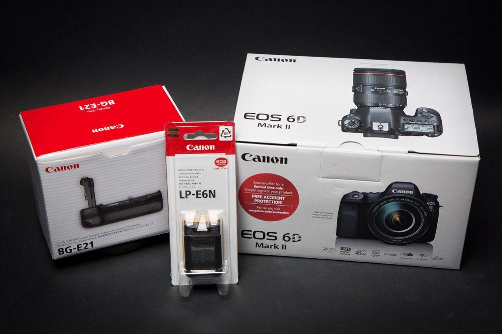 New Canon Eos 6d Mark Ii Camera Body Bg E21 Grip Genuine Lp