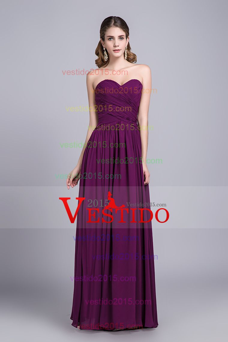 Asequibles de dama de honor Vestidos / Vestidos fiesta A-Line Novia ...