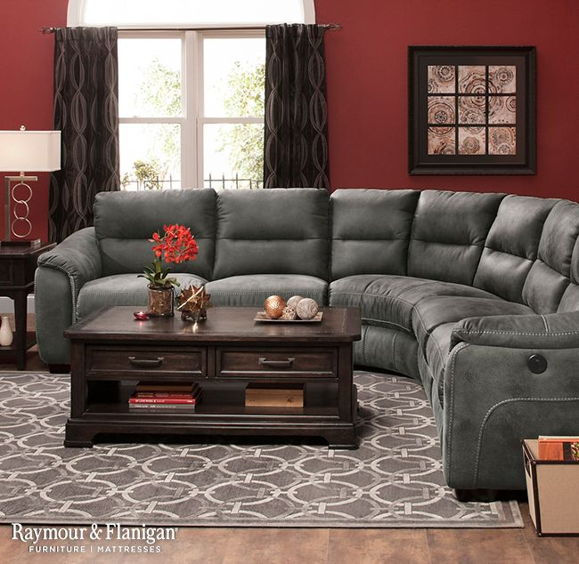 Rockland 5 Pc Microfiber Power Reclining Sectional Sofa Living