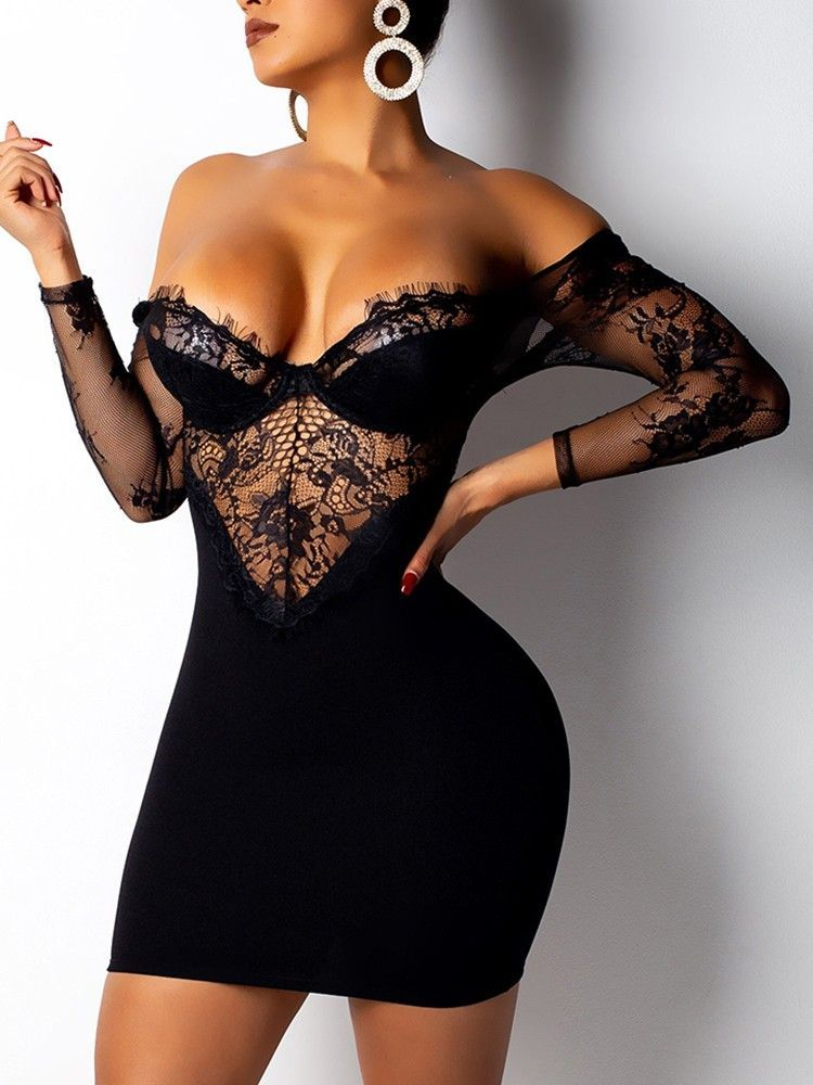 See Through Eyelash Lace Backless Bodycon Dress  fashion  beautiful  tops   style  women  Shoes  jumpsuit  Outfits 11390c03c
