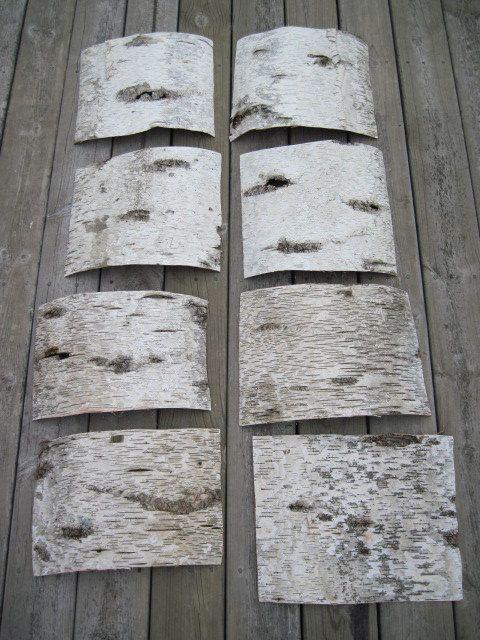 Birch Bark 3 Sheets Crafts Decorations Rustic Natural Via Etsy
