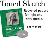 new! Toned Sketch Recycled Paper for light and dark media! The combination is stunning.