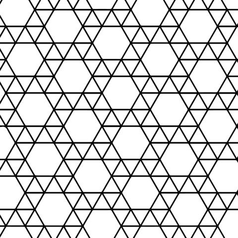 Teselado con Triángulos y Hexágonos Dibujo para colorear | Dibujo ...
