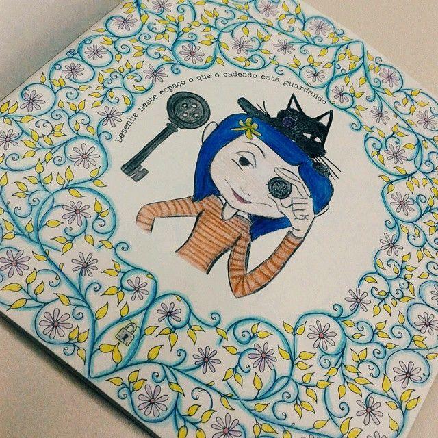 Jardim Secreto Nunnyh Com Imagens Coraline Desenho