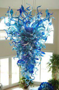 Chandelier..uh, riight. :) Stunning Murano glass..