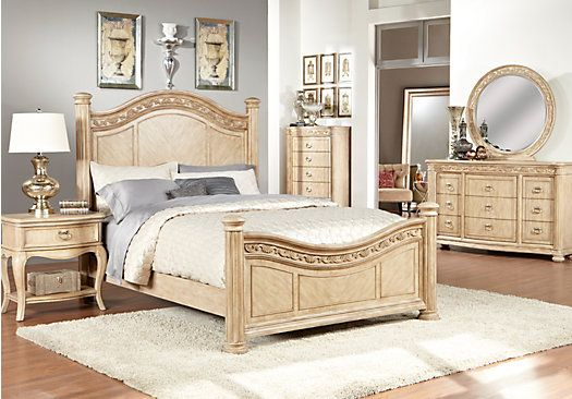 Shop For A Isabella Light Wash 5 Pc Queen Panel Bedroom At Rooms To Go.