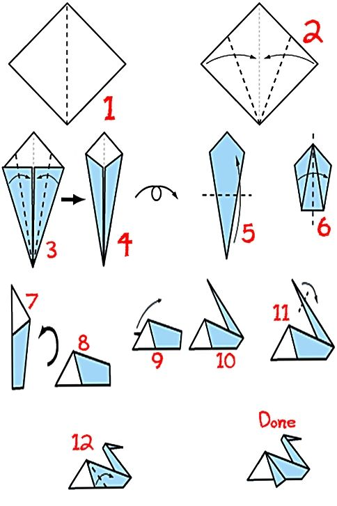 Origami Pelican Instruction Just Fold It Pinterest Origami