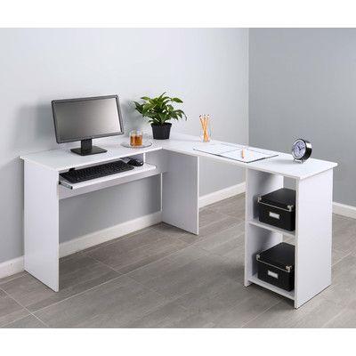 Ebern Designs Hildebran Manufactured Wood L Shape Computer Desk Wayfair Corner Desk Computer Desk Home Office Furniture