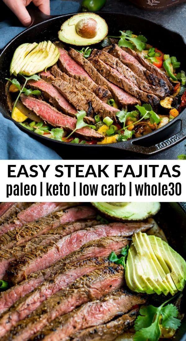 Whole30 Easy Steak Fajitas -