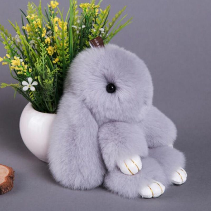350810898 Premium Quality Super Soft Fluffy Adorable Plush Rabbit Stuffed Bunny Animal  Small Pendant Hanging Toy 13cm 5   Height Gift  Affiliate