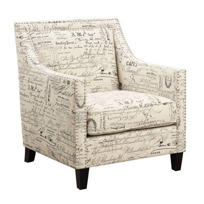 Emery Chair Amp Ottoman French Script Picket House
