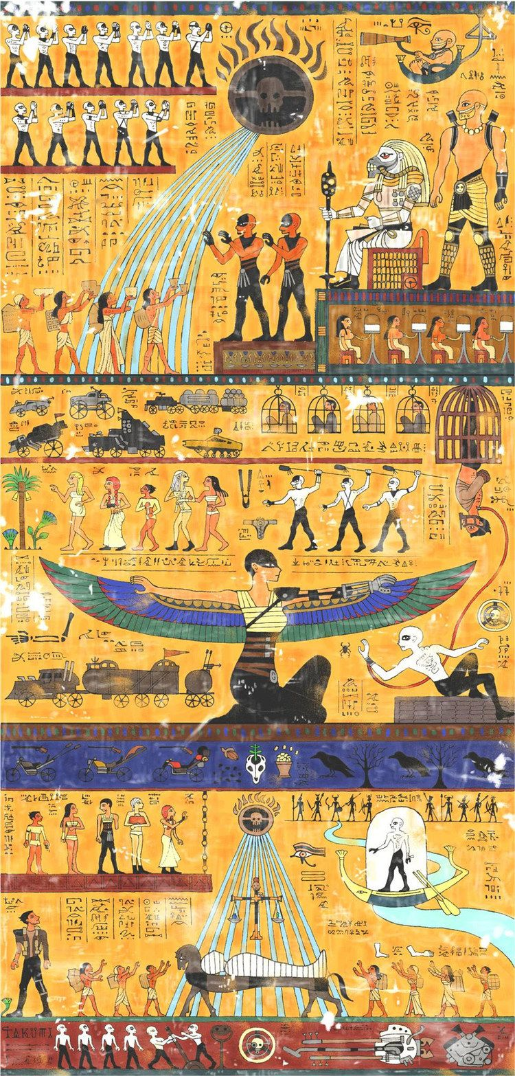 Mad Max Fury Road Story Told In Egyptian Hieroglyphic Art